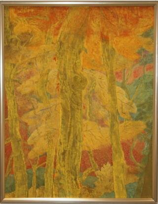 日本画 「 彩秋 」 平光利重 作