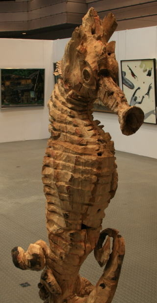 彫刻 「 内に在るもの 」 井澤浩 作