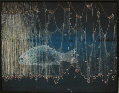 洋画 「 遠い湖の記憶 」 武田昇 作