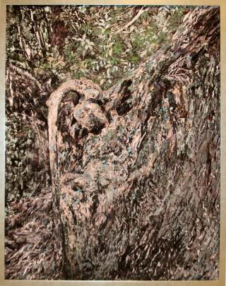日本画 「 鼓動 」 山下 繁 作