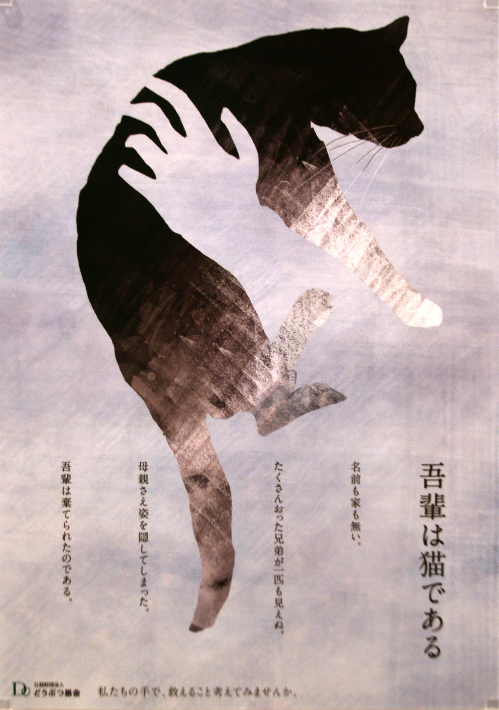 グラフィックデザイン 「 吾輩は猫である 」 古根川 紗希 作