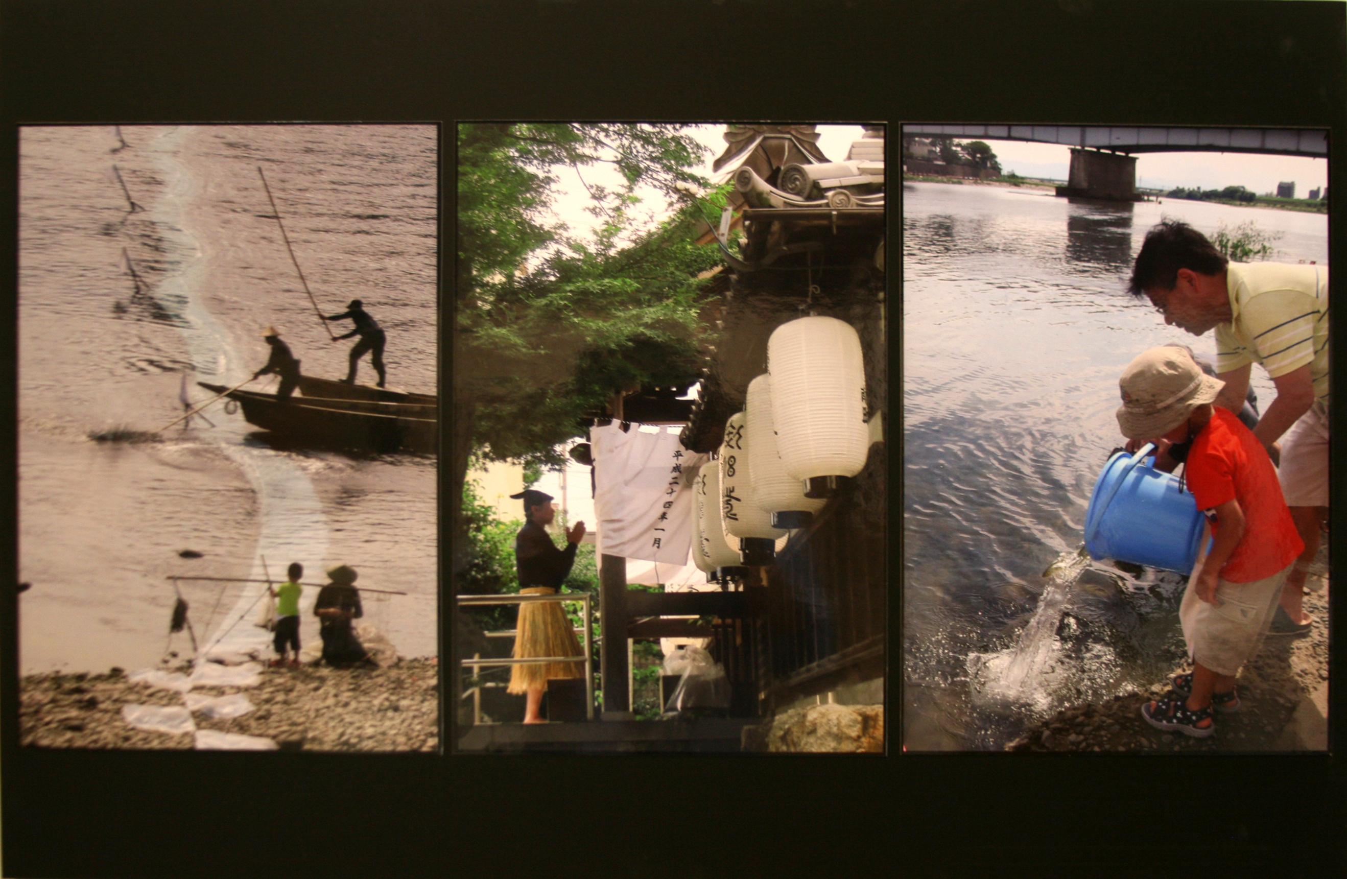 写真 「 長良川に生きる 」 野々村 順子 作